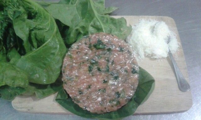 Hamburger spinaci e formaggio da macelleria De Maso Maurizio
