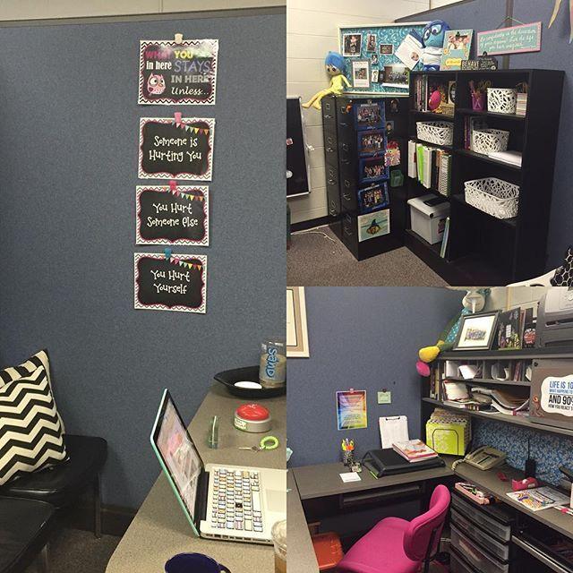 Beginning to look like an office again instead of a rummage sale. #schoolcounseling #schoolcounselor #schoolcounselorstyle