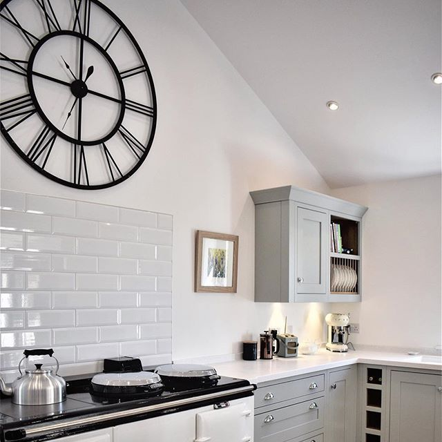 The Tosca Wall Clock Taking Pride Of Place In Katie S Kitchen Kitchen Inspirations Kitchen Interior Kitchen