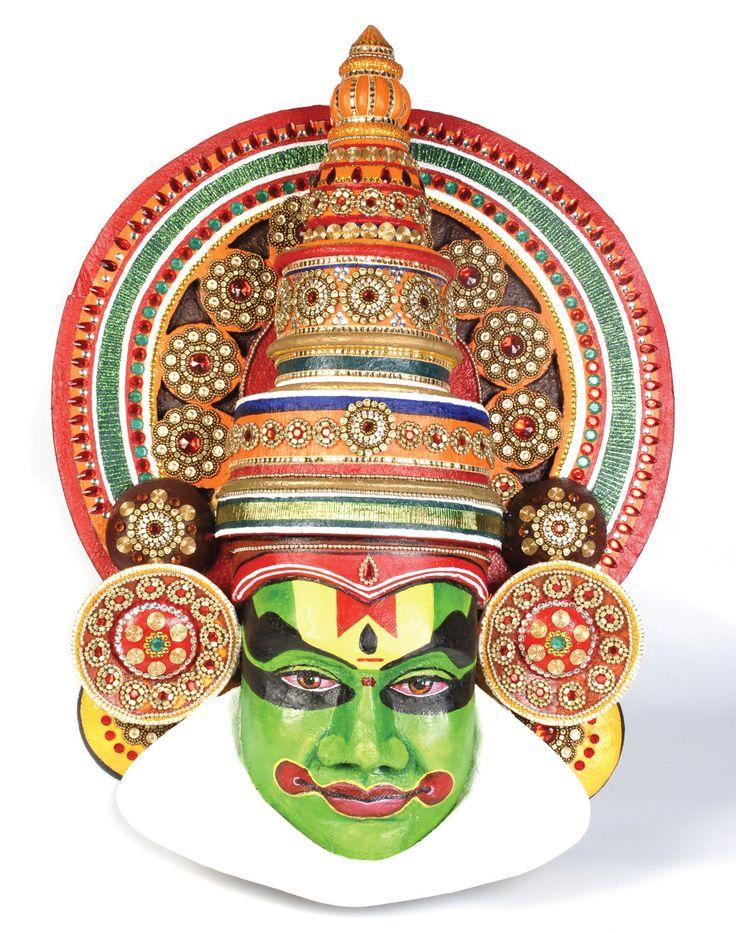 Kathakali Pattern Adapt To Jewellery Masks Art