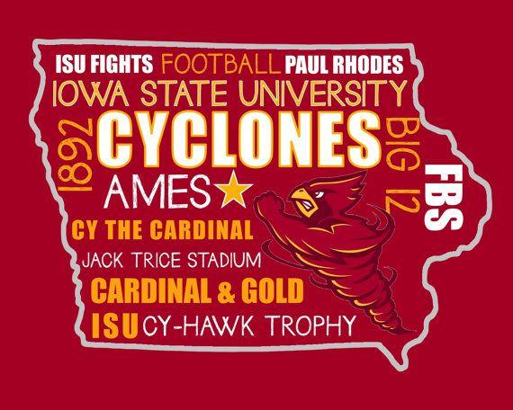 Iowa State University Football Digital Print - Instant Download