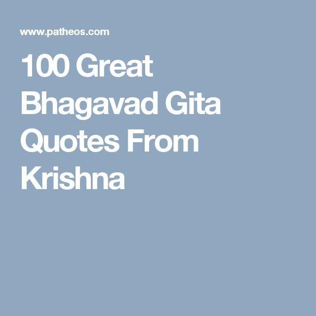 100 Great Bhagavad Gita Quotes From Krishna