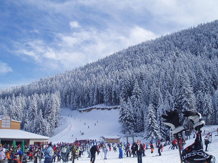 Bansko, Bulgaria....even if you don't ski or snowboard trust me you will still have fun on the slopes :)