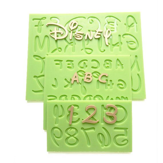 Cake Decorating Letter Cubes : 2016 New Disney Font Uppercase/Capital Lowercase Alphabet ...