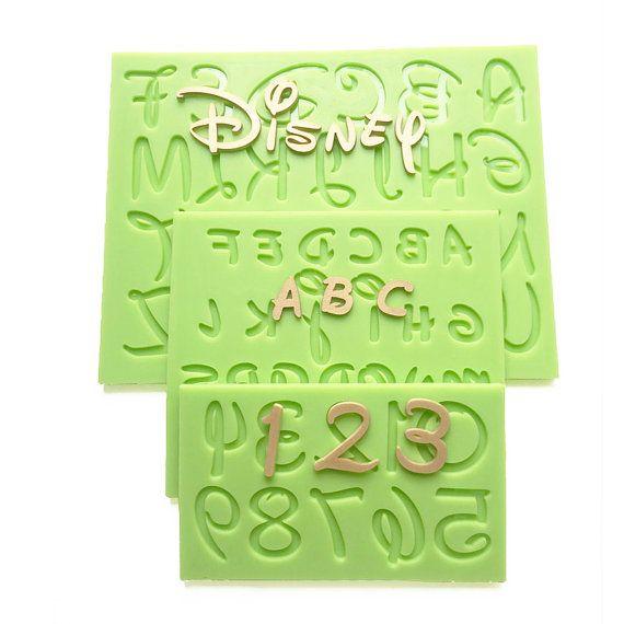 Cake Decorating Letter Cubes : 2016 New Disney Font Uppercase/Capital Lowercase Alphabet ...