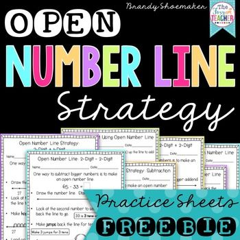 Open Number Line Strategy for addition and subtraction FREEBIE! Brandy Shoemaker on TpT