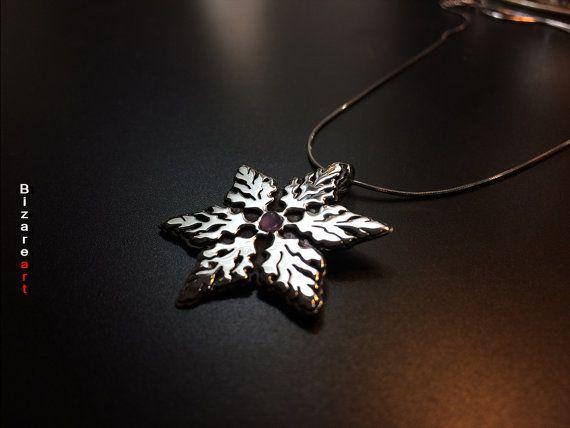 Snowflake Pendant Sterling Silver 9.25