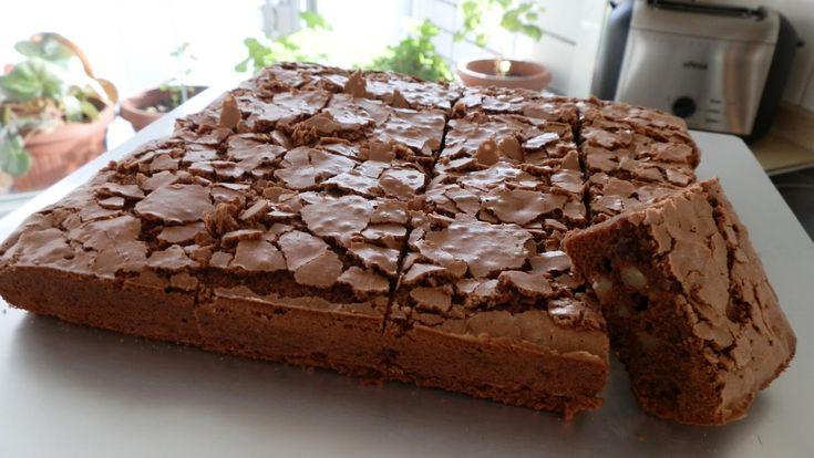 Brownie de proteínas casero.