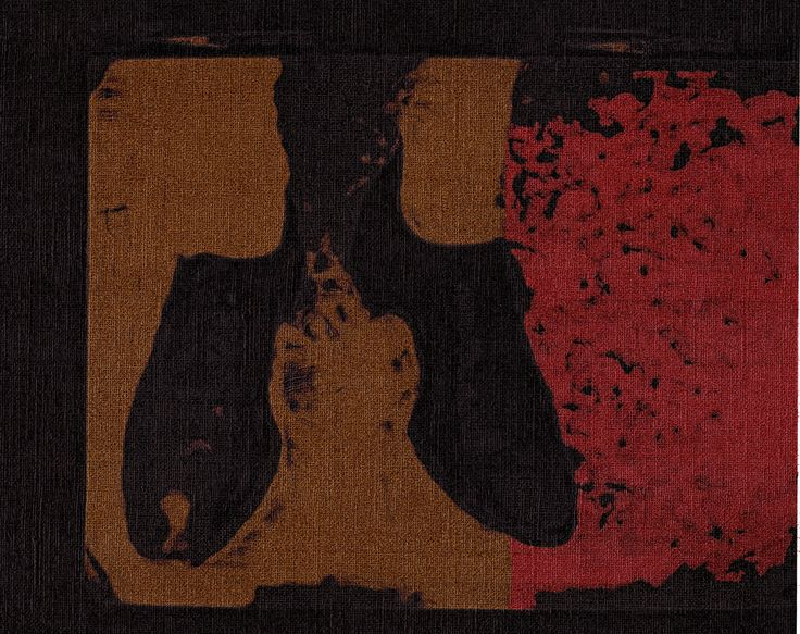 """Unhidden Graves"" Artista: Francoise Duressé, tinta sobre lienzo, 21.5x28 cm, 2015 + PA."