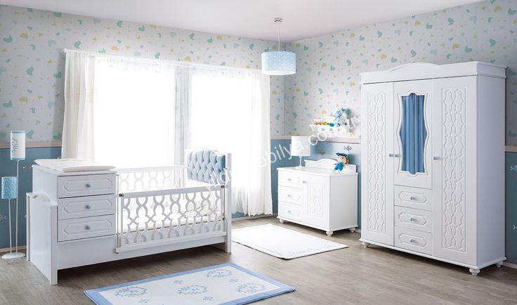 Vanessa Country Bebek Odası Mavi Bebeğiniz İçin Keyifli Ve Muhteşem Bir Oda…