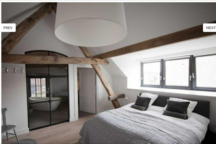 Mooi qua stijl en goede verbinding met de badkamer zolder esther en sebastiaan pinterest - Deco master suite met badkamer ...