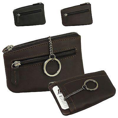 Leder Schlüsseletui Schlüsseltasche Etui Mappe Mini Börse mit Kartenfach 99029