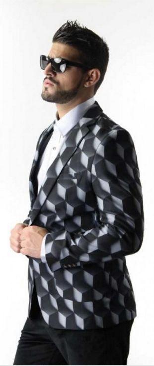Mens Designer Blazer Opt-Art by James Calehan, for the dandy man who appreciates…