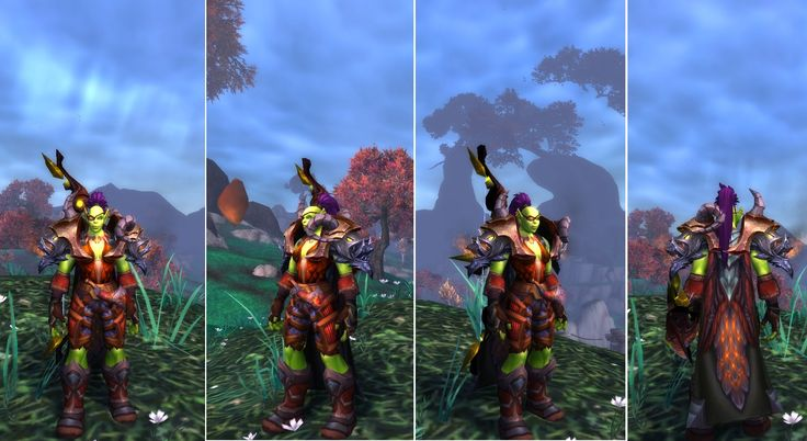 #transmog #worldofwarcraft #hunter I got some new shoulders in Highmaul Heroic last night, and they suit this transmog outfit even better colourwise, than the ones I was using from Zul'Aman.  So I have decided to show you the outfit...