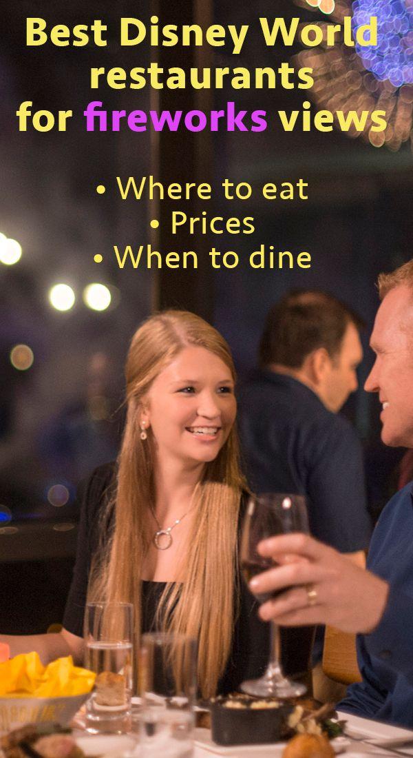 Best Disney World restaurants w/fireworks views - when to make reservations, prices, menus