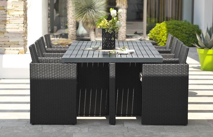 23 best salon de jardin encastrable images on pinterest braid out table tray and armchairs. Black Bedroom Furniture Sets. Home Design Ideas