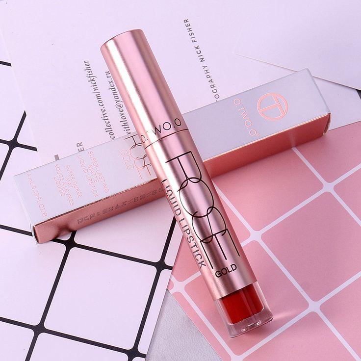 Best O.TWO.O Velvet Matte Liquid Lipstick Christmas Gifts Lip Gloss Moisturizing Waterproof 12 Colors - NewChic