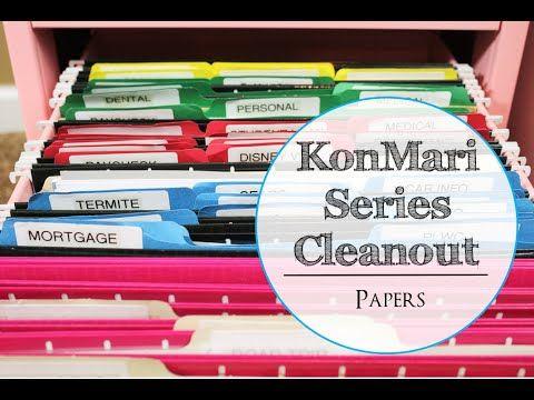 konmari series cleanout papers youtube marie kondo comment d sencombrer pinterest. Black Bedroom Furniture Sets. Home Design Ideas