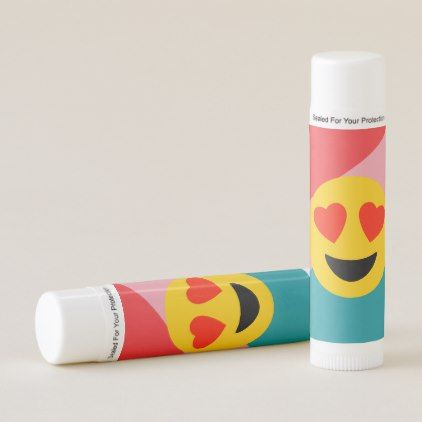 Striped Love Heart Emoji Lip Balm 12 Pack - kids kid child gift idea diy personalize design