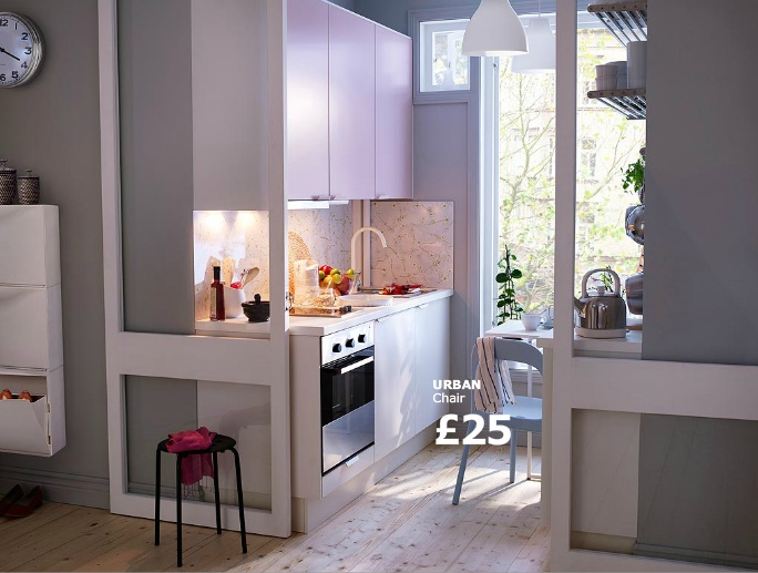 Ikea Kitchen Idea Galley Kitchen With Sliding Doors Instead Of End Wall Home Decor