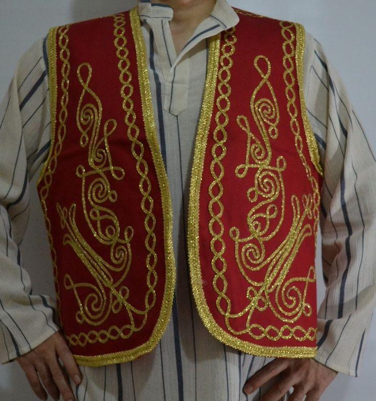 Authentic Ottoman Turkish Embroidered Vest,Waist,Waistcoat, Hand made Medieval  #Handmade #Vest