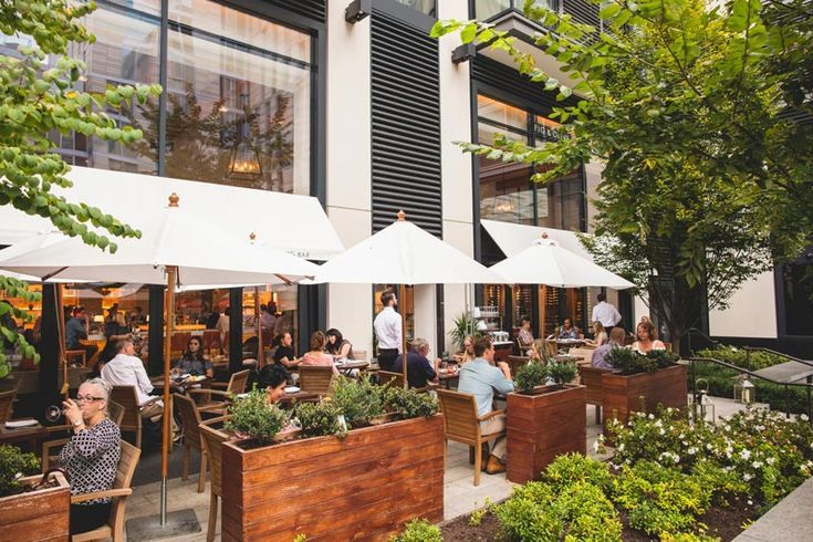 Outdoor patio dining in Washington, DC Fig and Olive