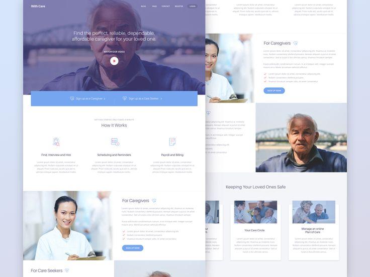 Caregiver Marketing Site by Aqeela Valley #Design Popular #Dribbble #shots