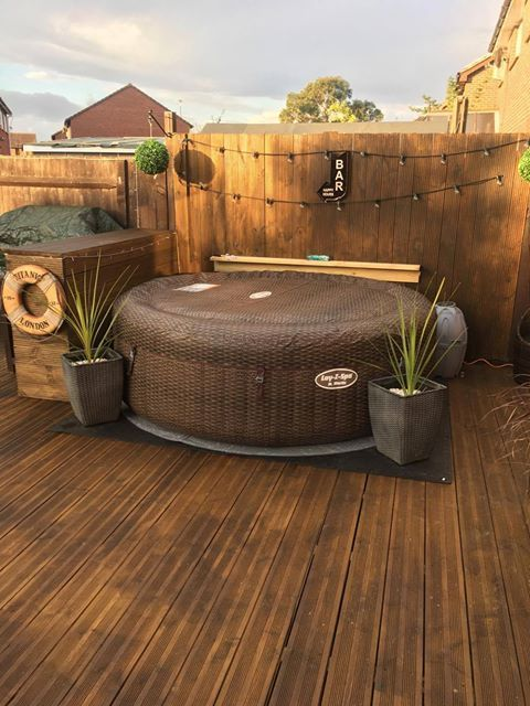 St Moritz AirJet Hot tub garden, Hot tub backyard, Hot