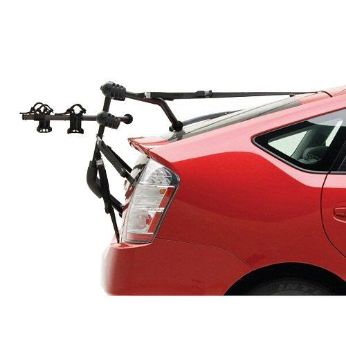 It is designed to strap to the trunk lid of a sedan or onto a hatchback, like a Prius. #best #bike #rack