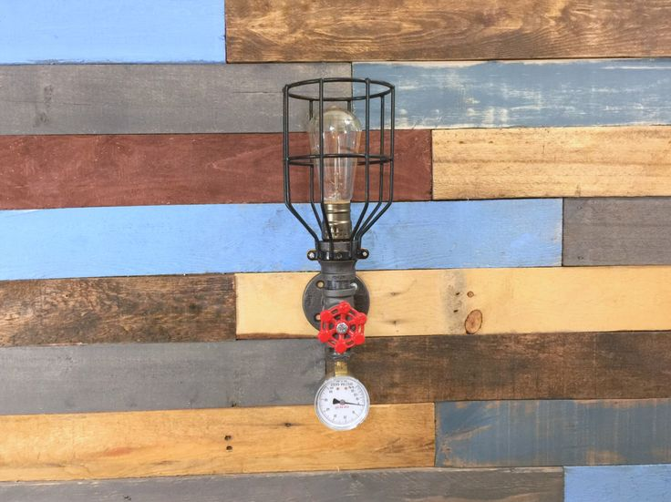 a nice wall light for any industrial style decor ul listed parts used