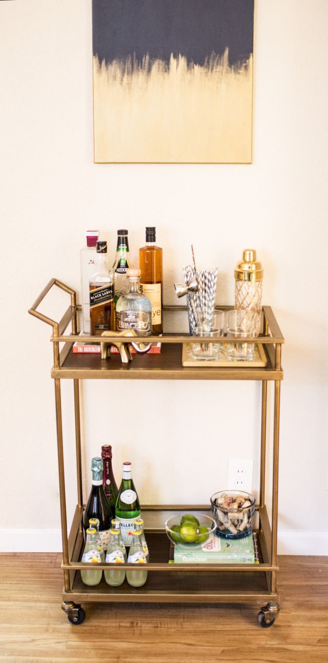 Bar Cart Reveal: The Suite Life Designs