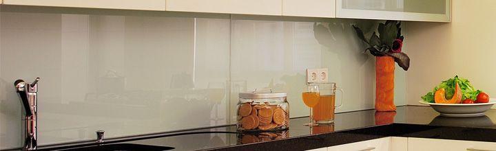 Küchenrückwand glasklar-Optik