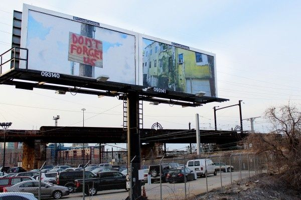 Unused billboards commissioned for public art exhibit