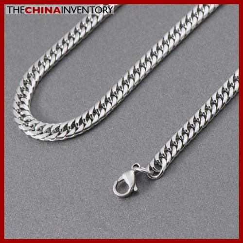 7MM MENS 26` STAINLESS STEEL CURB CHAIN NECKLACE N5004