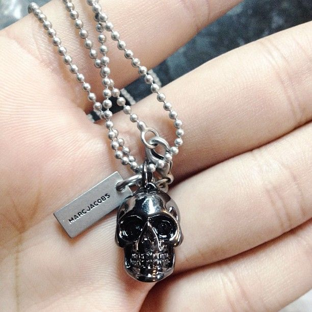 Marc by Marc Jacobs Skull necklace via The Lover and the Liar