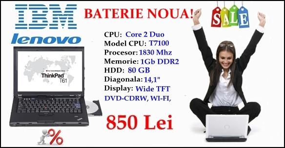 Laptop sh Lenovo T61 cu garantie 12 luni, la numai 850 lei!! www.abdcomputer.ro