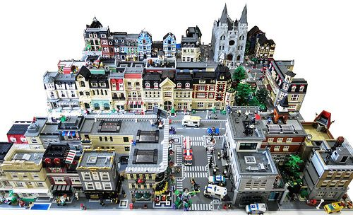 Castor City - So much work & bricks, but I would so love to work with that level of style!
