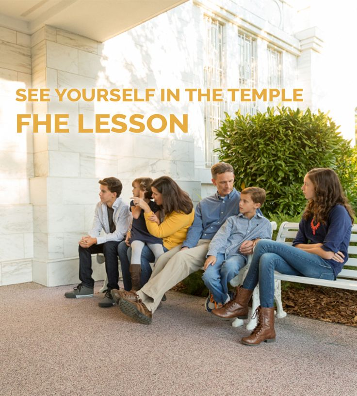 See Yourself in the Temple FHE Lesson | Family Home ...