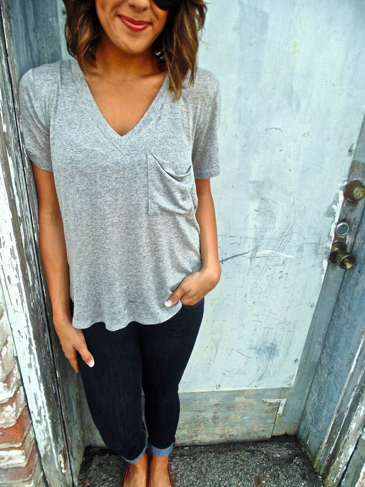 Casual comfy cute... Perfect. I really need some freakin' t-shirts to wear with jeans.