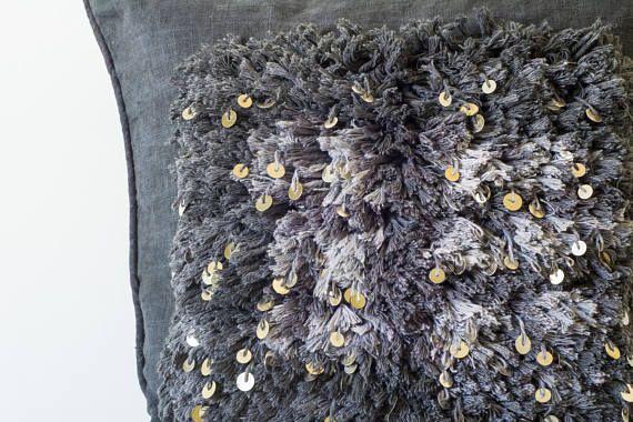 dark gray throw pillow shaggy throw pillow moroccan throw