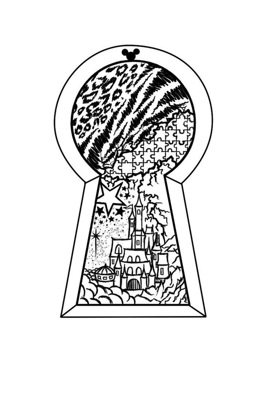 51 best art - ink/castles images on pinterest | drawings, disney