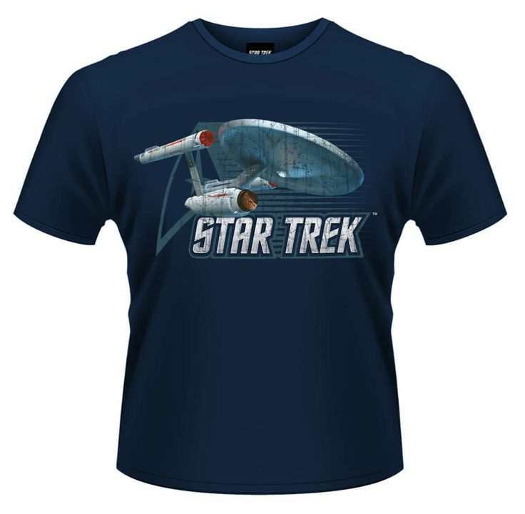 Camiseta nave Enterprise vintage. Star Trek Bonito diseño al más puro estilo vintage con la imagen de la popular nave Enterprise, 100% oficial, licenciada y fabricada 100% en algodón vista en la popular Star Wars.