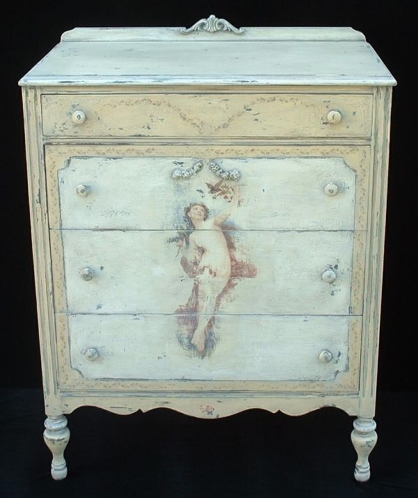 cherub painted dres    BEAUTIFUL. 184 best painted furniture  etc  images on Pinterest   Painted