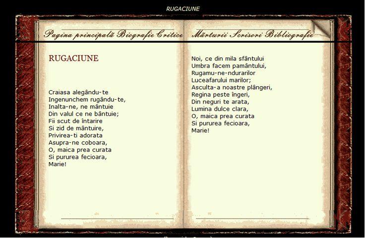 Rugaciune - Eminescu