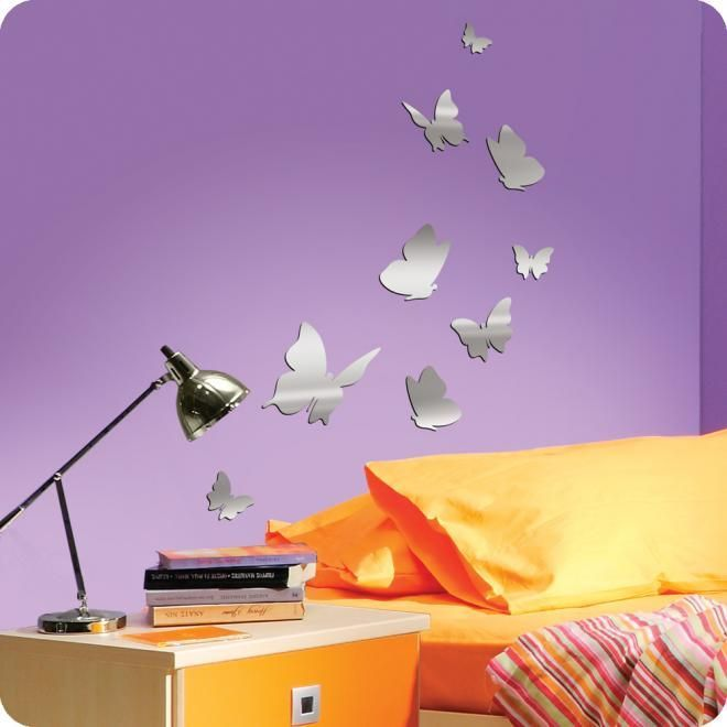 Cool Mirror Butterfly Wall Decals and Stickers for Teens ...