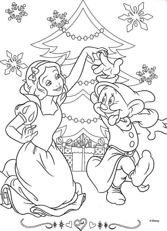 Coloriage De Noel Disney