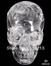 Ddh00622 CUARZO CRISTAL de ROCA Tallado Crystal Skull, realista, Sanación con cristales(China)