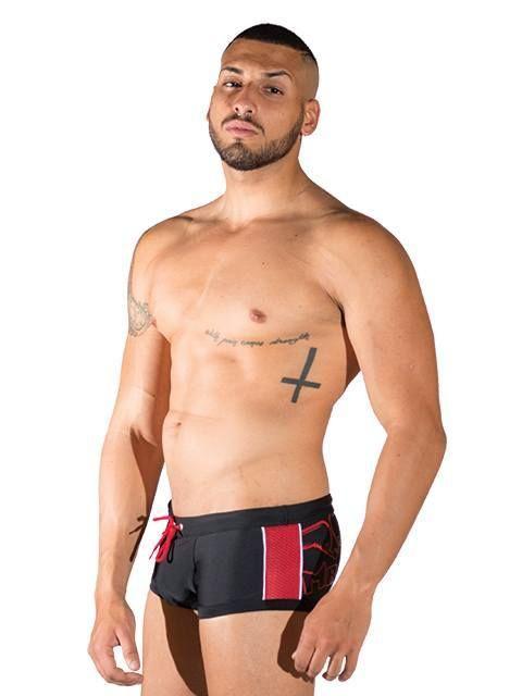 Mister B URBAN Venice Beach Swim Trunk black