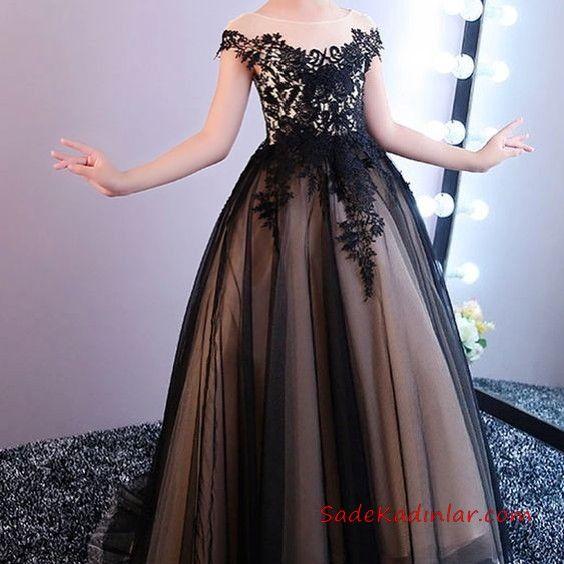 2019 Cocuk Abiye Modelleri Siyah Uzun Omzu Acik Dusuk Kol Islemeli Balo Elbiseleri Dugun Nedime Elbiseleri Kadin Elbiseleri