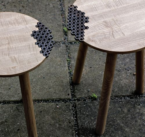 Behold the Nuts Stool by Sweden-based designer Eunjae Lee.